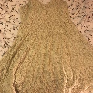 White Lacy American Eagle dress!